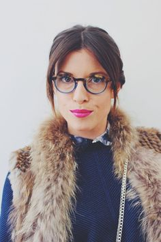Wearing Volte Face eyewear in my latest blog post! I love a cool pair of glasses and a strong lip xx