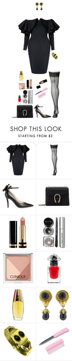 """Bane (AU)"" by shulamithbond on Polyvore featuring Lane Bryant, Gucci, Bobbi Brown Cosmetics, Clinique, Guerlain, Estée Lauder and Elizabeth Locke"