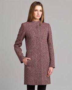 Winter Coat Picks:  Calvin Klein Scarlet Tweed Coat