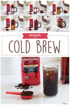 Spring is here and we're cooling things down with a Community Coffee Cold Brew!   Grind 2/3 cup of coffee beans and place in a large (8-cup) French press. Add 3 cups of room-temperature water. Stir the grounds in the water. Place the French press plunger on top and store in the fridge for 12 hours. Carefully push down the plunger to push all grounds to the bottom and enjoy!