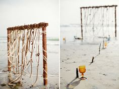 This Rope Beach Altar is so perfect for a bohemian beach #wedding! Altar by http://laceandlikes.com/  Photo Credit: http://swoonbykatie.com/