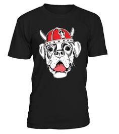 Cool Boxer dog in Viking helmet shirt  Funny Boxer T-shirt, Best Boxer T-shirt