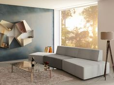 Sectional modular sofa Slide Collection by Lago | design Daniele Lago