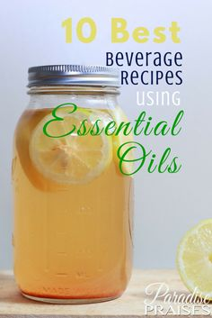 These Essential Oil Beverage Recipes will knock your socks off! So yummy, refreshing and healthy!
