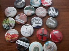 Collage buttons by Daydream Studios. Available at Minty Keen and The Sparrows in Grand Rapids, Michigan.