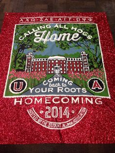 Alpha Chi Omega-ΑΧΩ ΔΡ Chapter: Homecoming Banner 2014 #sororitybanner