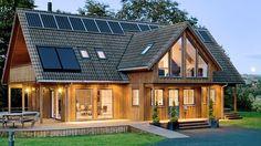 Gorgeous Scandinavian Prefabricated Homes. Modern Scandinavian Home Idea Come With Timber Home Scandinavian Architecture, Scandinavian Home, Timber Frame Homes, Timber House, Dream Home Design, House Design, Chalet Design, Small Prefab Homes, Tiny Homes