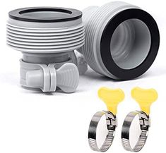 """Amazon.com: perfifan 1.25"""" to 1.5"""" Type B Hose Adapter for Intex Filter Pump and Saltwater Replaces 25009 (2 Pack) : Patio, Lawn & Garden Above Ground Swimming Pools, Above Ground Pool, In Ground Pools, Intex Pool Vacuum, Pool Accessories, Pool Supplies, Lawn And Garden, Filters, Packing"""