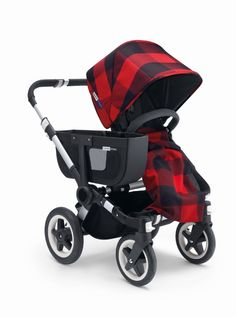 Plaids and tartans are the most recognized designs within the brand, most specifically the red and black pattern, Rob Roy, this historic pattern seemed the ideal fit for the Bugaboo Donkey. Rob Roy design exclusive for Bugaboo Donkey.