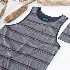 Summer time means less layers. The custom yarn dyed jacquard stripe on our Squamish Tank is the ideal style for a day at the beach or a backyard BBQ. https://www.hippytree.com/shop/new-arrivals/squamish-tank/heather-navy/ #surfandstone #apparel #tanktop #menswear #surfing #climbing