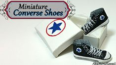 Miniature Converse inspired Shoes/Sneakers - Polymer clay & fabric tutorial