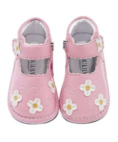 This Pink Daisy Patch Leather Mary Jane by Jack & Lily is perfect! #zulilyfinds