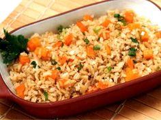 Arroz Integral à Grega - Veja como fazer em: http://cybercook.com.br/receita-de-arroz-integral-a-grega-r-16-2259.html?pinterest-rec