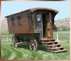 if i had a gypsy wagon, i'd travel in it. turning it into a chicken coop is the second best idea.