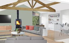 Visual of modern barn conversion in the Lake District. Modern Barn, Lake District, Room, Style, Bedroom, Swag, Rooms, Outfits, Rum
