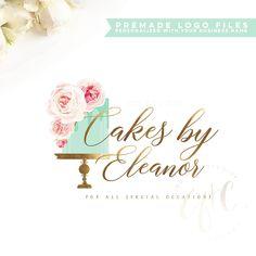 Cake Logo Design, Wedding Logo Design, Wedding Logos, Custom Logo Design, Custom Logos, Wedding Cake, Bakery Design, Bakery Business Cards, Cake Business