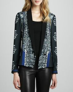 Russian Enamel Printed Jacket by Clover Canyon at Neiman Marcus.SAR 557.20