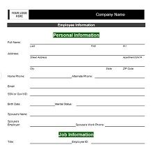 50 Employee Information Sheets Pdf Word 2020 Business