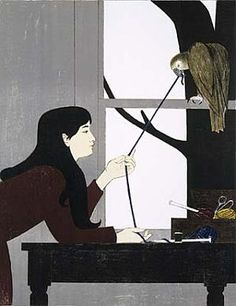 Silent Seasons--Winter / Will Barnet / 1968 / color lithograph on paper