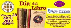 """Este viernes 28 de abril, 2017 a partir de las 9:30 pm están invitados a festejar el """"Día del Libro"""" ¡Nos encanta! ."""