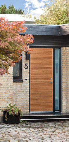 Front door in Oak. Made in Denmark! Danish design