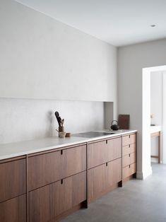 Kitchen Cabinet Design, Modern Kitchen Design, Interior Design Kitchen, Modern Design, Kitchen Cabinets, Wooden Kitchen, Rustic Kitchen, Home Decor Kitchen, Home Kitchens