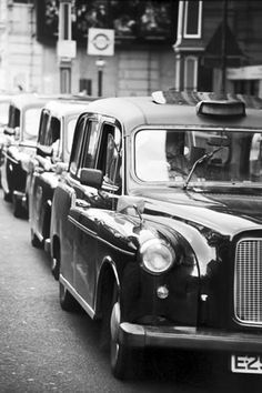 The Black Cab is iconic in London, where cabbies are licensed and must have passed an extensive training course called 'The Knowledge'.