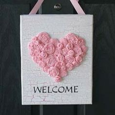 Valentine's Day Welcome Sign Craft | Valentine's Day Craft — Country Woman Magazine