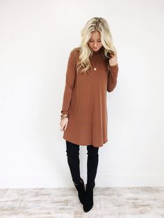 Dark Rust Tunic | ROOLEE http://bellanblue.com
