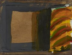 Howard Hodgkin, An Open Door, Oil on wood, 18 × 23 ¾ inches × cm)© Howard Hodgkin Abstract Expressionism, Abstract Art, Howard Hodgkin, Magical Paintings, Gagosian Gallery, Hans Peter, Museum Exhibition, Shape And Form, Saturated Color