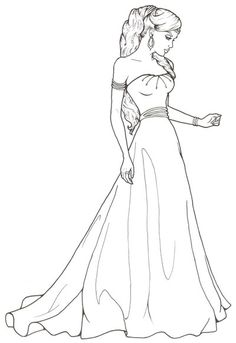 Maiden Girl by ReQuay on DeviantArt People Coloring Pages, Barbie Coloring Pages, Disney Princess Coloring Pages, Cute Coloring Pages, Animal Coloring Pages, Coloring Books, Pencil Art Drawings, Art Drawings Sketches, Free Adult Coloring