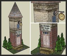 Watchmaker Studio Tower Free Building Paper Model Download - http://www.papercraftsquare.com/watchmaker-studio-tower-free-building-paper-model-download.html
