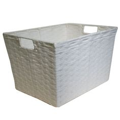 12-in W x 10-in H x 16-in D White Paper Baskets