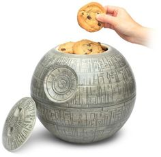 Death Star Cookie Jar = Come to the Dark Side; we have cookies.