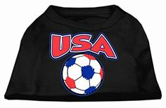 Mirage Pet Products USA Soccer Screen Print Shirt Black 6x * Be sure to check out this awesome product.(This is an Amazon affiliate link and I receive a commission for the sales)