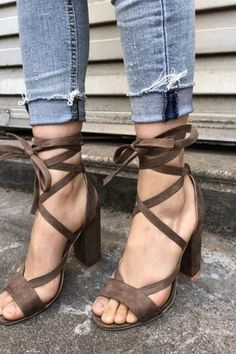 #chunkyheels #sandalssummer #sandalsoutfit #sandalsheels #heels #heelsclassy #heelswithjeans #heelsprom #icuteshoes #blockheelsoutfit #blockheelsoutfitjeans #blockheelsoutfitjeansstreetfashion #heelsclassyelegant #heelsclassyelegantoutfit #heelsoutfits #heelsoutfitscasual #heelswithjeansoutfit Casual Heels Outfit, Block Heels Outfit, Heels Outfits, Sandals Outfit, Heeled Sandals, Ankle Strap Block Heel, Lace Up High Heels, Style Inspiration, Flats