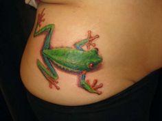 Frog tattoo by Toronto tattoo artist, Yovany Cabanas, #BluGod. [ #tattoo, #toronto, #frog, #frogtattoo, #torontotattoo, #blugod, #yovanycabanas ]