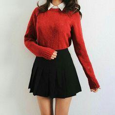 Korean Fashion – How to Dress up Korean Style – Fashion Design Tips Korean Fashion Winter, Korean Fashion Trends, Asian Fashion, Korean Winter, Korea Fashion, Autumn Fashion, Korean Outfits, Mode Outfits, Fall Outfits