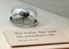 The .44 caliber bullet that took President Lincoln's life. The bullet that killed President Lincoln is one of many items on display at the National Museum of Health and Medicine.