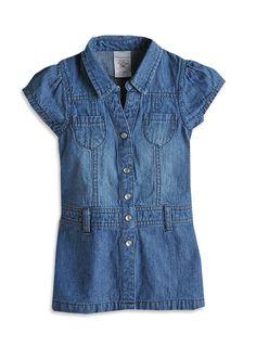 Pumpkin Patch - dresses - denim shirt dress - W3CF80004 - denim - 0-3mths to 2