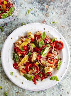Panzanella Tuscan bread and tomato salad