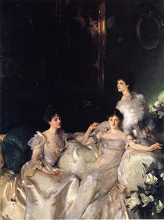The Wyndham Sisters - John Singer Sargent - Completion Date: 1899