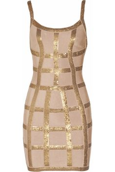 I could never wear it but it's so hot Hervé Léger Sequined bandage dress