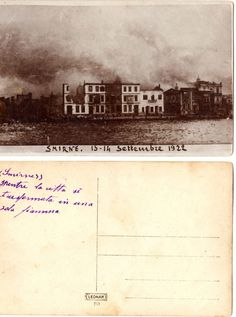 Greece -Turkey 1922 Asia Minor disaster and fire in Smyrna -Smirni real photo | eBay