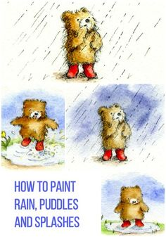 How to Paint Rain Puddles and Splashes! #painting