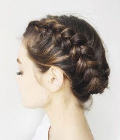 Side braid updo by Kristin Ess