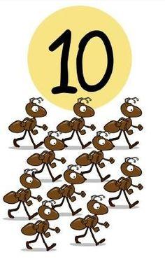 * Insecten! 10-10 Numbers Preschool, Learning Numbers, Math Numbers, Preschool Math, Kindergarten Worksheets, Math Games, Activities For Kids, Teaching Patterns, Colegio Ideas