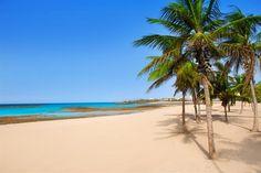 Playa de Arrecife à Lanzarote, Îles Canaries (Espagne)