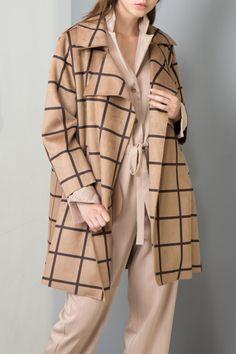 Lapel Check Coat