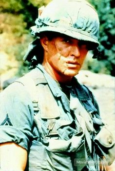 """Tom Berenger as Sgt. Barnes in """"Platoon"""".. """"Death? What do you all know about death?"""""""